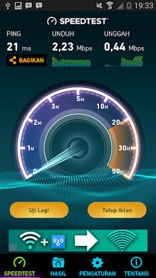 mengecek kecepatan internet di android