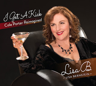 "Cover ""I Get A Kick: Cole Porter Reimagined"" by Lisa B (Lisa Bernstein) from Jazzed Media 1/18 (photo by William Duke)"