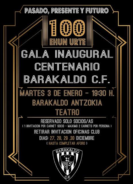 gala centenario Barakaldo CF