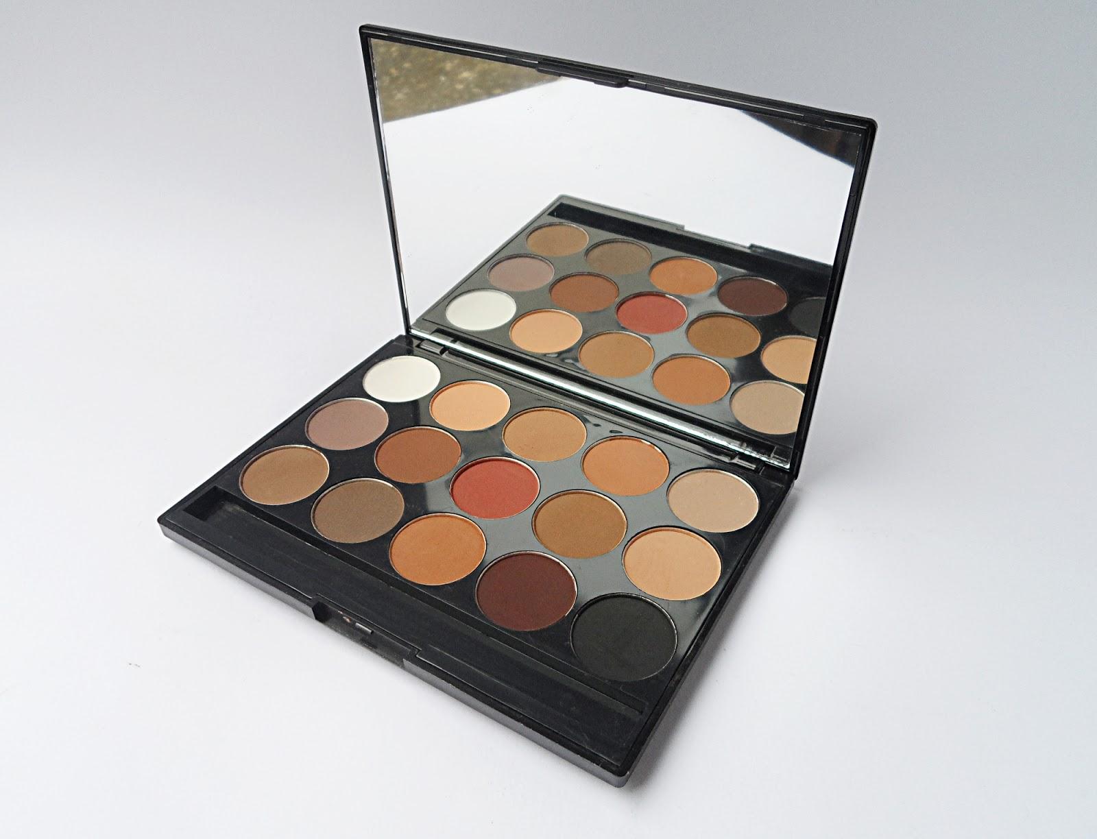 liz breygel eye shadow palette matte neutral natural brown swatches pictures