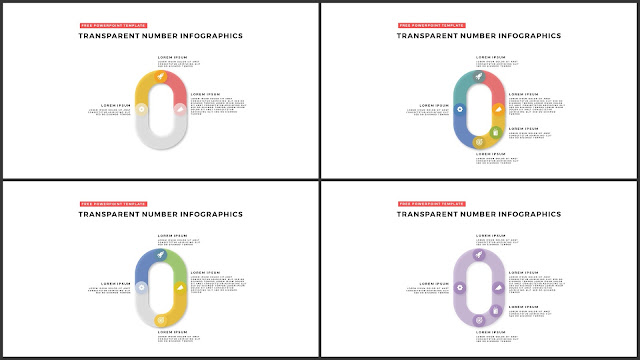 Infographic Transparent Design Elements for PowerPoint Templates in white background using Number 0