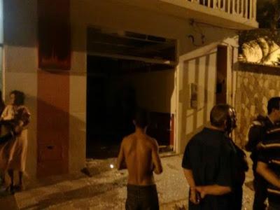 Bandidos explodem agência e atiram em viatura da PM durante ataque na Cidade de Ibititá