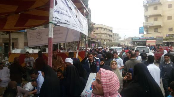 الناخبون في العامرية ، الإسكندرية في 28 مارس 2018 - مرصد دعم مصر الائتلاف