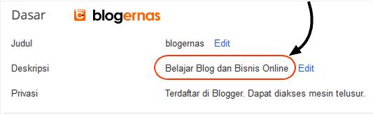 Cara Membuat Deskripsi Blog Full Gambar