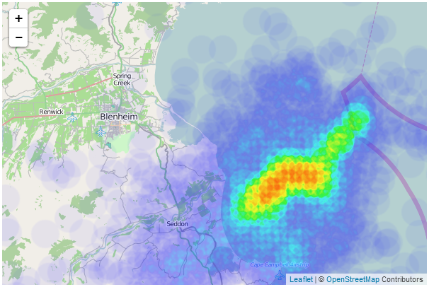 Leaflet Heatmap Example