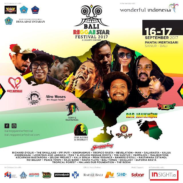 Pamflet Bali Reggae Star Festival 2017