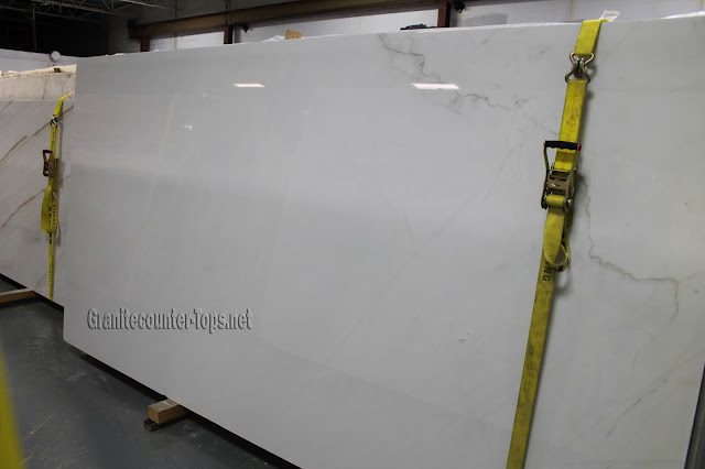 Calacatta lincoln Polished White Marble Slab