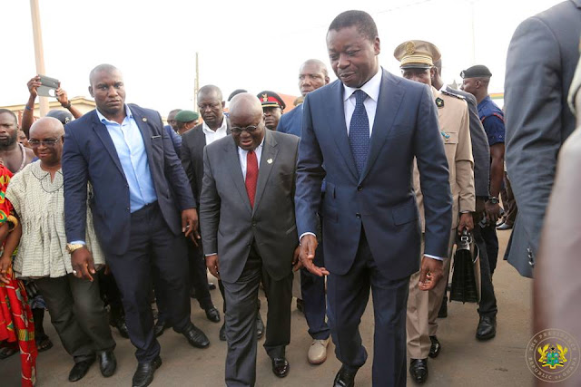Ghana President Akufo-Addo [L] and Togo President Faure Essozimna Gnassingbé [R]