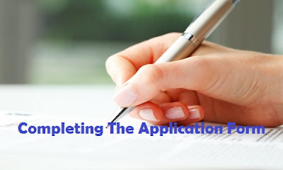 Completing the application form