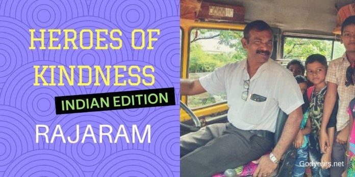 Rajaram - School teacher, Bus driver, Hero of kindness #WATWB