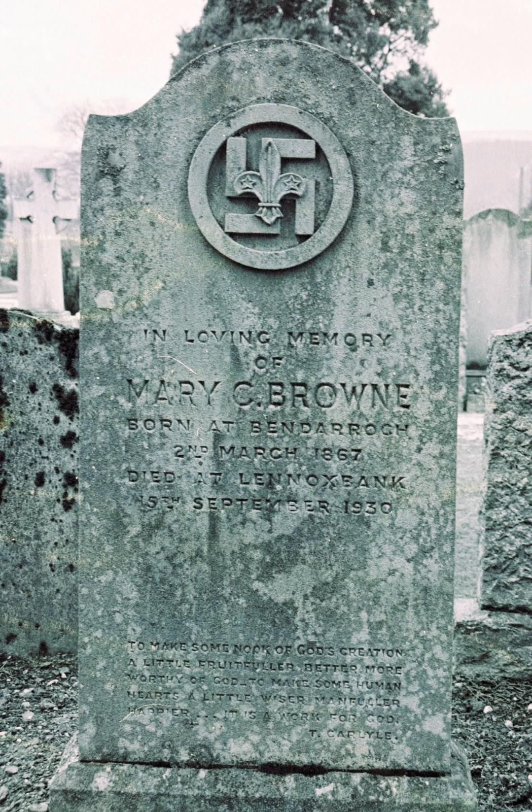the graveyard detective swastika symbol on scottish gravestone