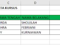 Concatenate, Fungsi Penggabung Teks di Excel