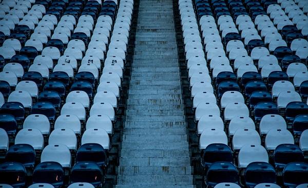 foto cool de las butacas vacias de un estadio de futbol