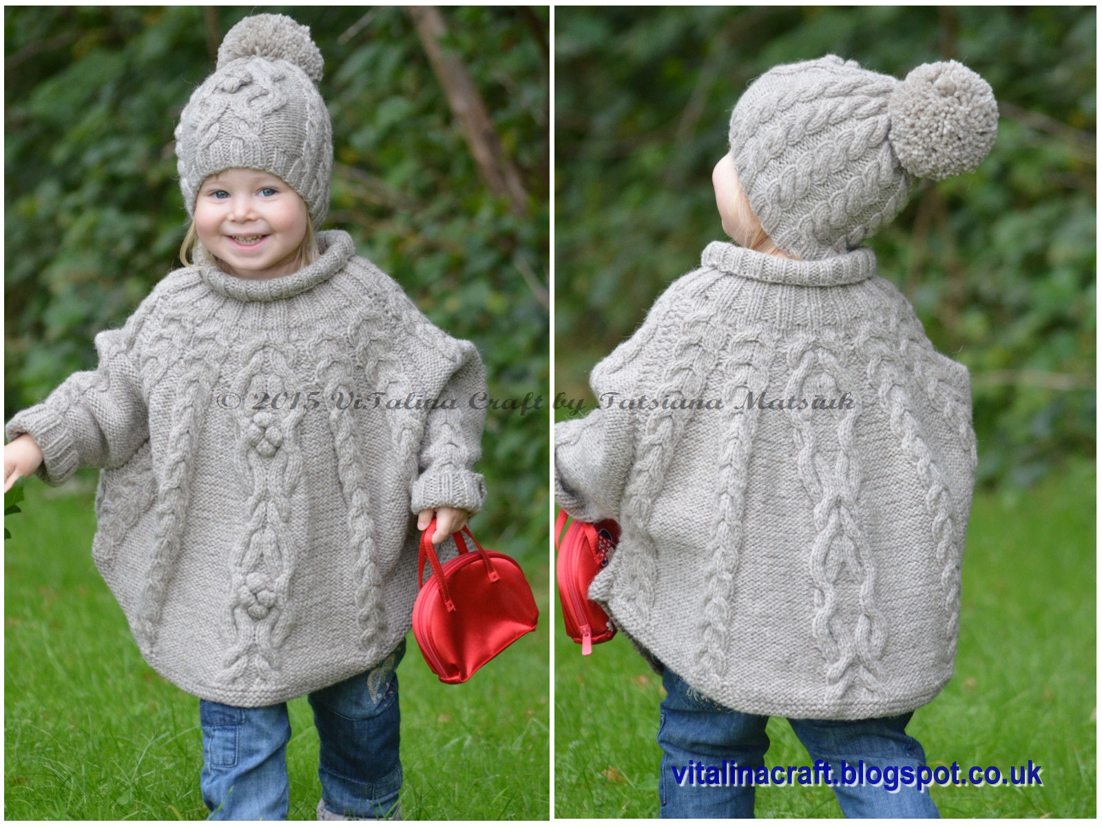 d23c225dc9ee40 Please welcome my new super cozy knitted design - Temptation Poncho and Hat  set. I knitted this set for my little daughter to keep her warm and stylish  this ...
