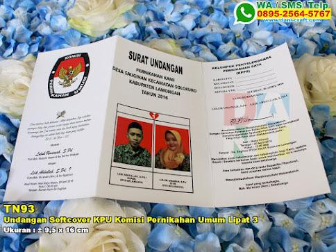 Undangan Softcover KPU Komisi Pernikahan Umum Lipat 3
