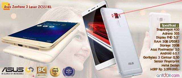 Resmi Asus Zenfone 3 Laser Melenggang Di Indonesia
