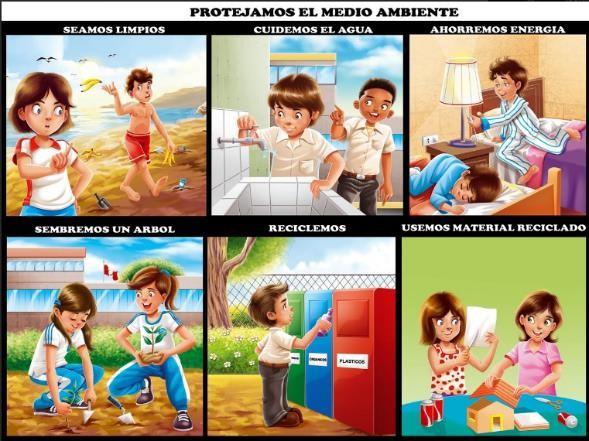 como cuidar el medio ambiente para niños