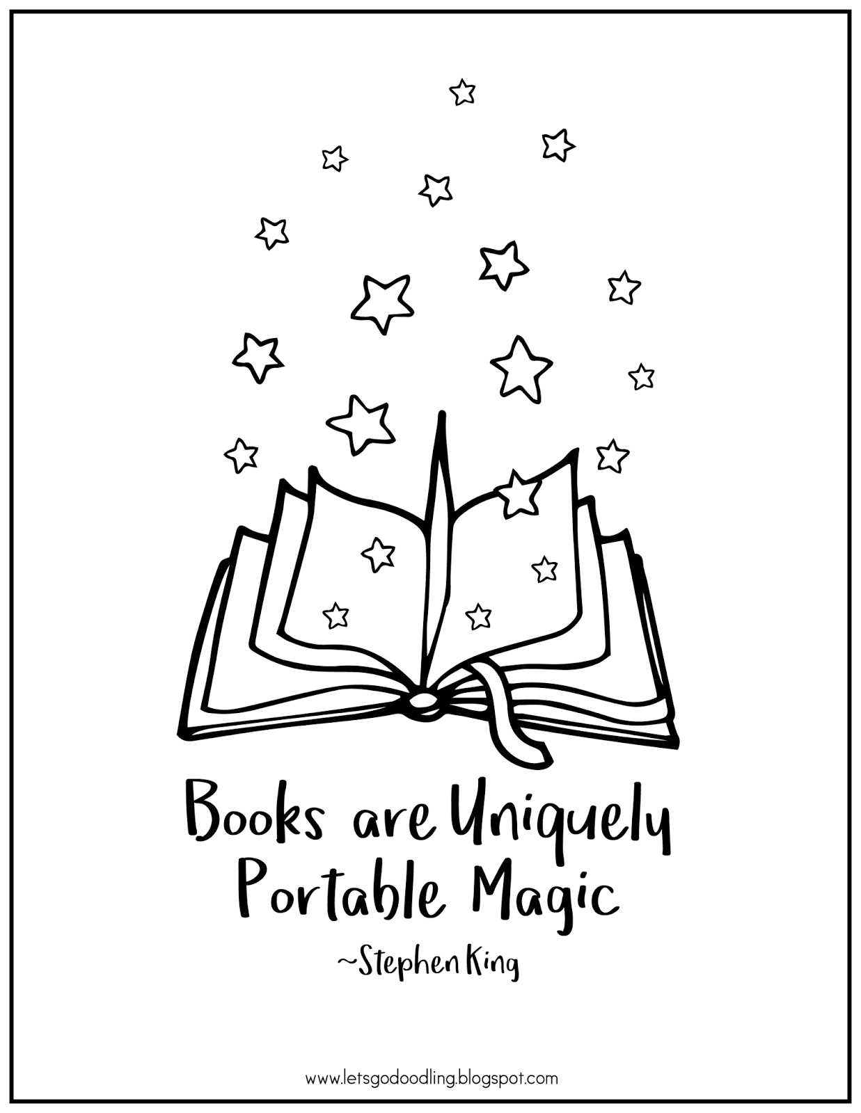 FREE Printable Coloring Page Open Book