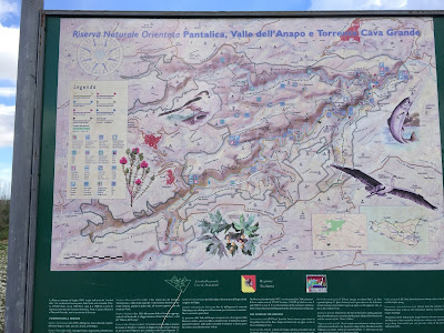 Information board for Riserva Naturale Orientata.