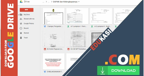 Contoh Format Dupak Guru Terbaru Lengkap Dengan Blanko Dan Aplikasi Excel Blog Edukasi