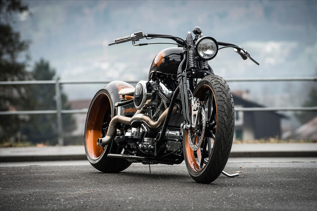 Unreal-soaked brutality custom black pearl from Bobber Garage 2
