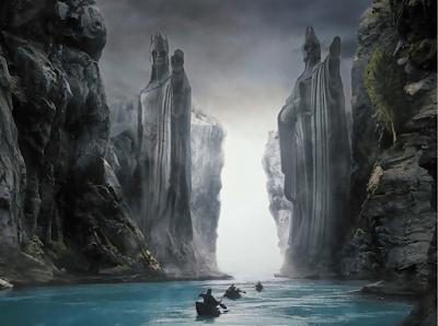 Φανταστική απεικόνιση θαλάσσιου (sympligades) περάσματος από τον Άρχοντα των δακτυλιδιών