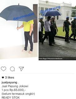 Payung Biru Jokowi