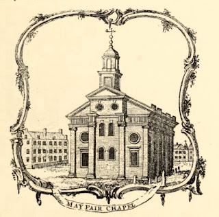 Mayfair Chapel in 1761 from Mayfair and Belgravia by G Clinch (1892)