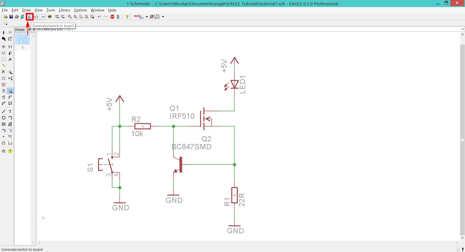 teknoow: EAGLE CAD - Create A New Board
