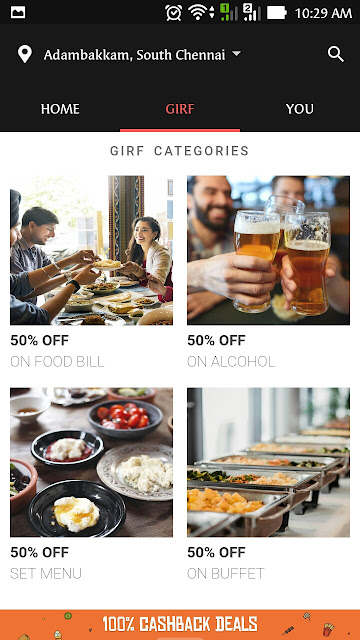 GIRF Dineout app