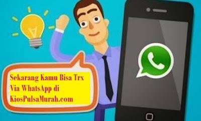 Cara Transaksi Kios Pulsa Murah Lewat WhatsApp