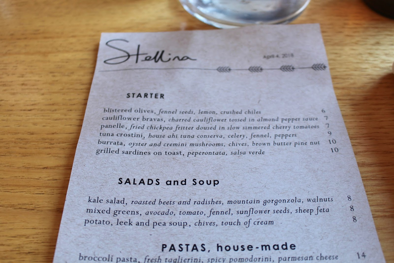 Dinner at Stellina Marfa