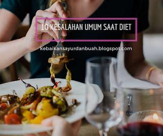 kesalahan umum dalam diet
