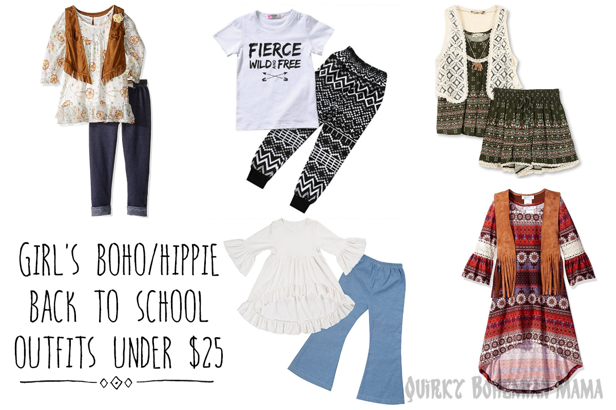 8282dff37f95 Girl's Boho/Hippie Back to School Outfits under $25 {With bonus hairstyle  inspo!}