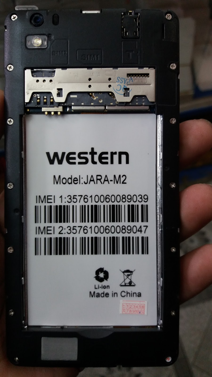 Western Jara M2 Flash File