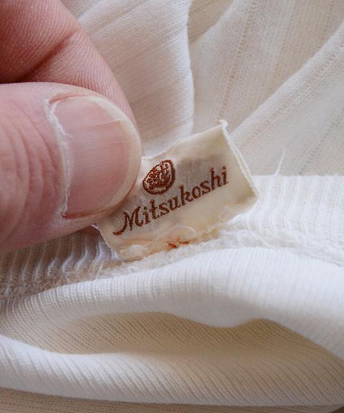 針抜き Tシャツ ジャパンヴィンテージ 三越 40~50年代 グランジ FUNS Japanese Vintage Mitsukoshi 40~50s Cotton Grunge T-Shirt