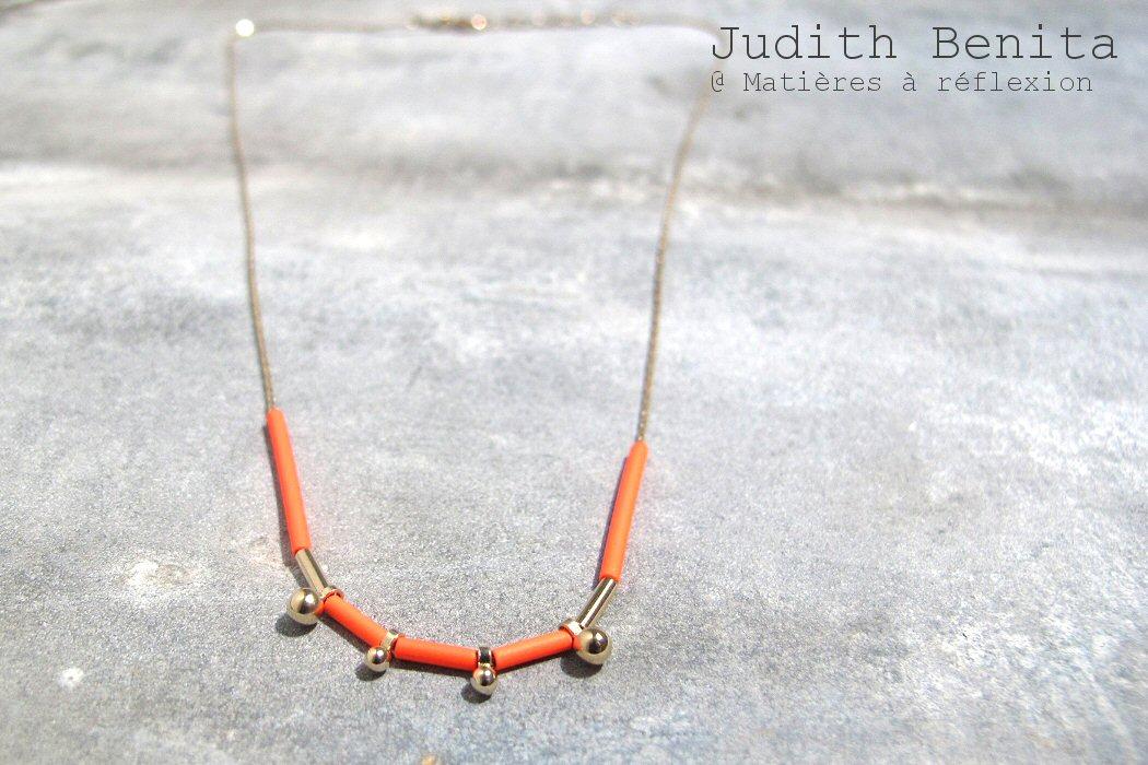 Collier rouge Judith Benita