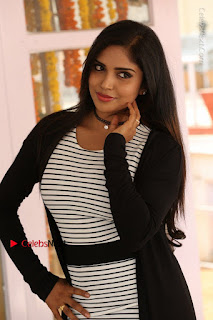 Telugu Actress Karunya Chowdary Stills in Black Dress at Soda Goli Soda Movie Opening  0010.JPG