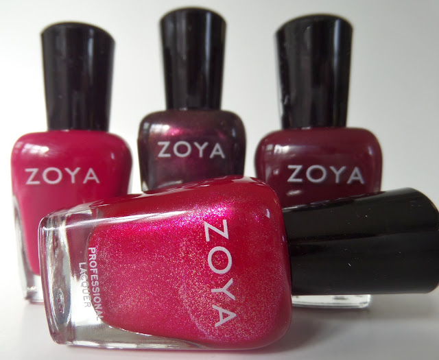 zoya all wrapped up polish quad bottles