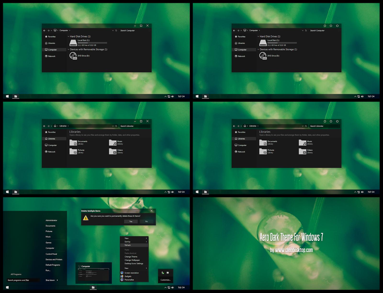 windows 7 aero glass theme for xp