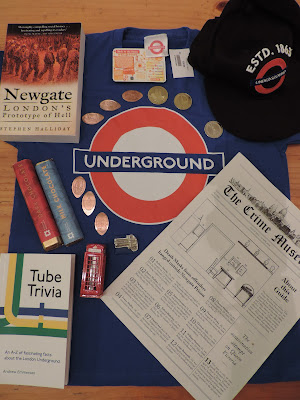 london underground hat shirt coins telephone box