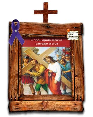 Caminho da Cruz - Simão Cirineu ajuda a Jesus