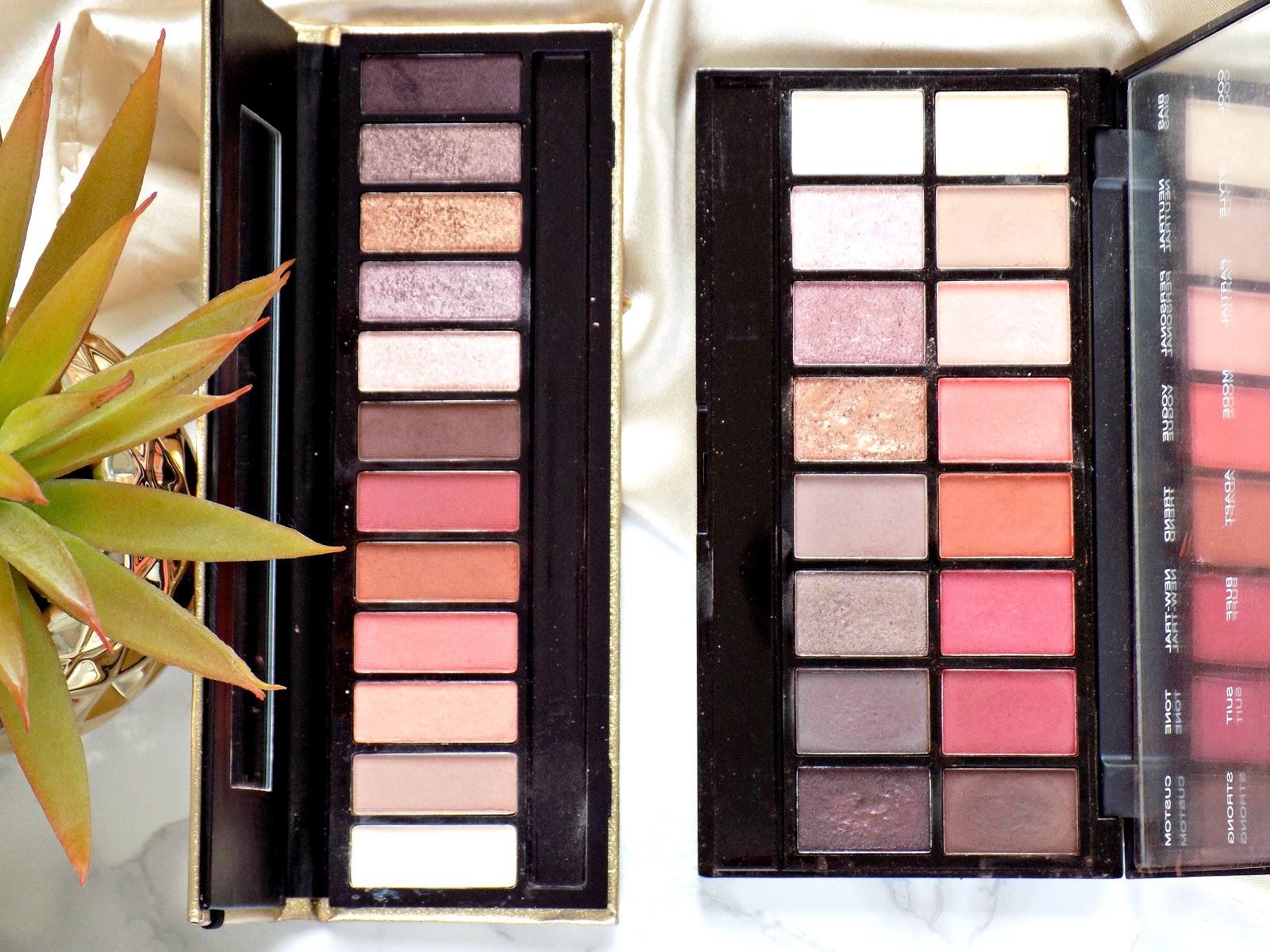 GWA Bombshell Eyeshadow Palette vs MUR New-trals vs Neutrals palette