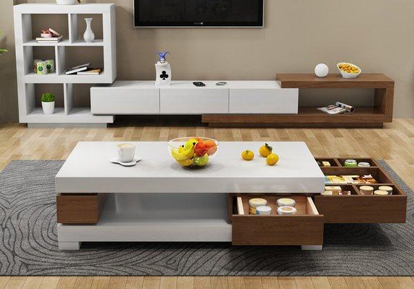 Bộ kệ tủ tivi cùng bàn trà thông minh KV38