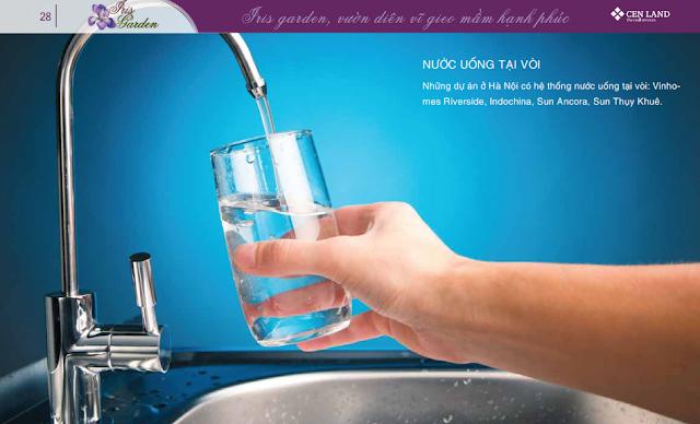 Hệ thống uống nước tại vòi của Iris Garden