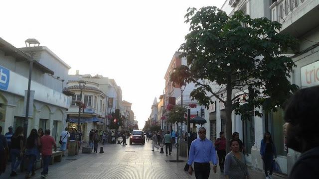 Las calles del centro de la La Serena son de tipo colonial, como en Andalucia