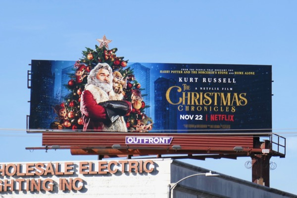Christmas Chronicles film billboard