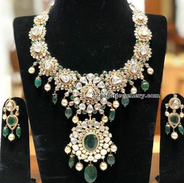 Grand Diamond Set by Sri Mahalaxmi Jewellers
