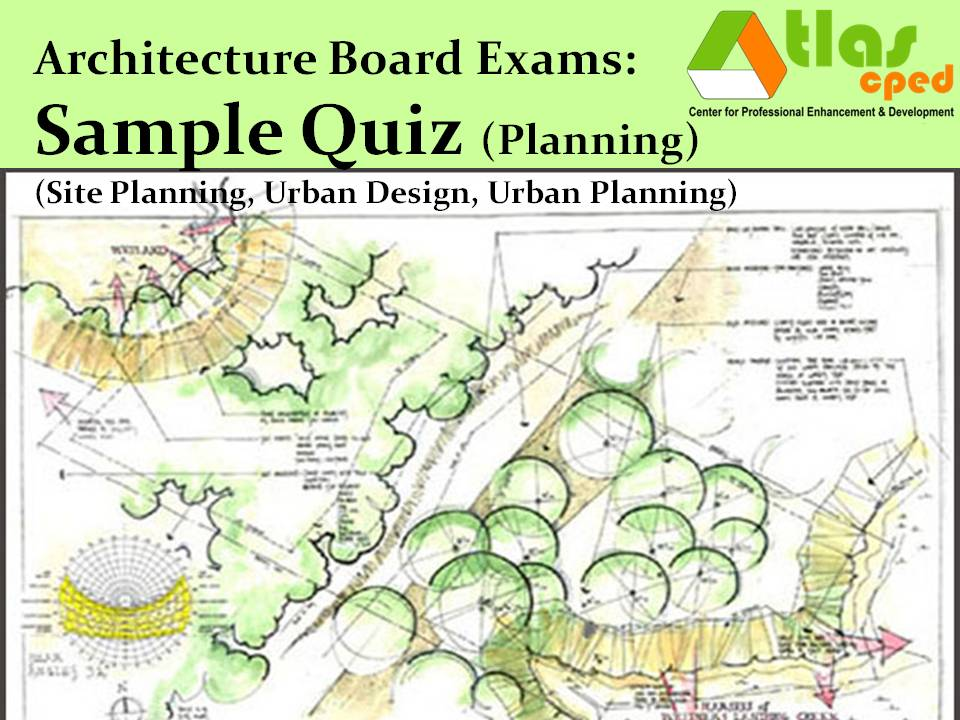 Here Is A Sample Quiz On Planning Which Includes Site Planning, Urban Design  And Urban Planning (see Scope Of Subjects Below This Post).
