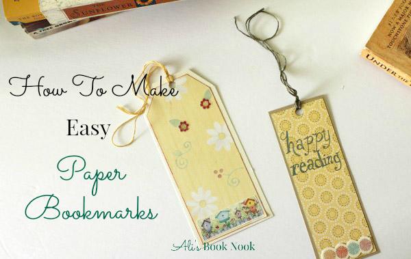 make quick easy bookmarks craft scrapbook paper
